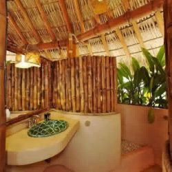 Bathroom Natural Bathroom Design With Bamboo Wall Natural Cheap Bamboo Bathroom Design