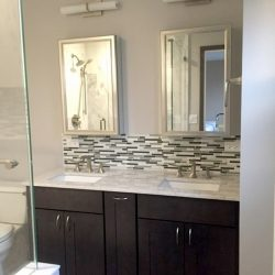 Bathroom Tile Backsplash Height Pinterest Glass Ideas Navpa Elegant Backsplash Bathroom