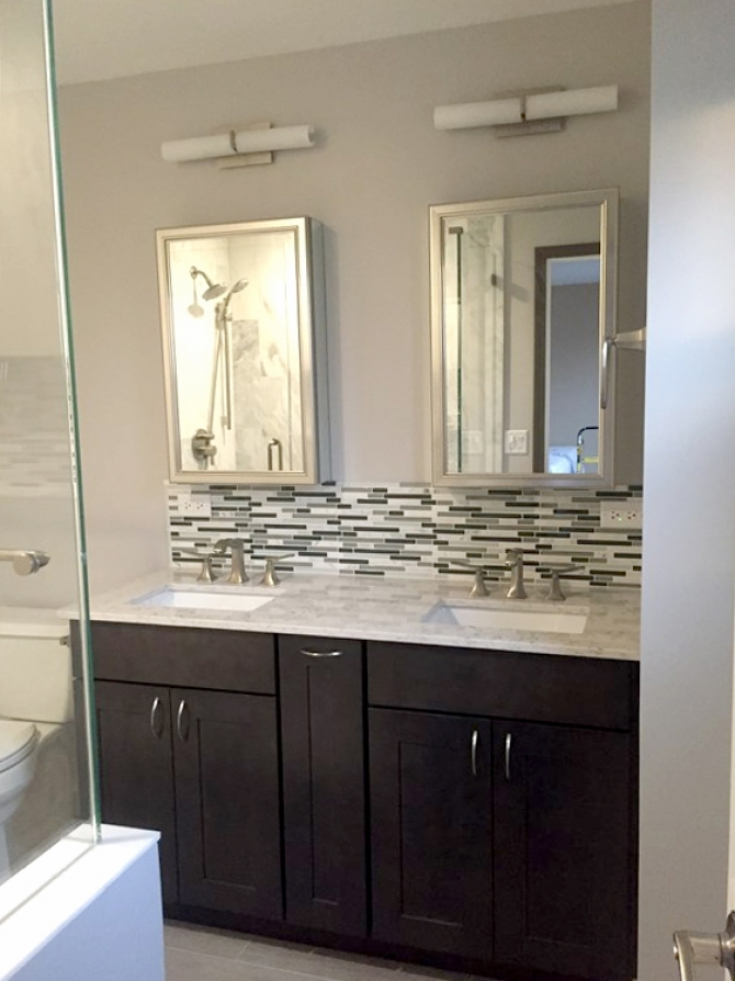 Bathroom Tile Backsplash Height Pinterest Glass Ideas Navpa Elegant Backsplash Bathroom
