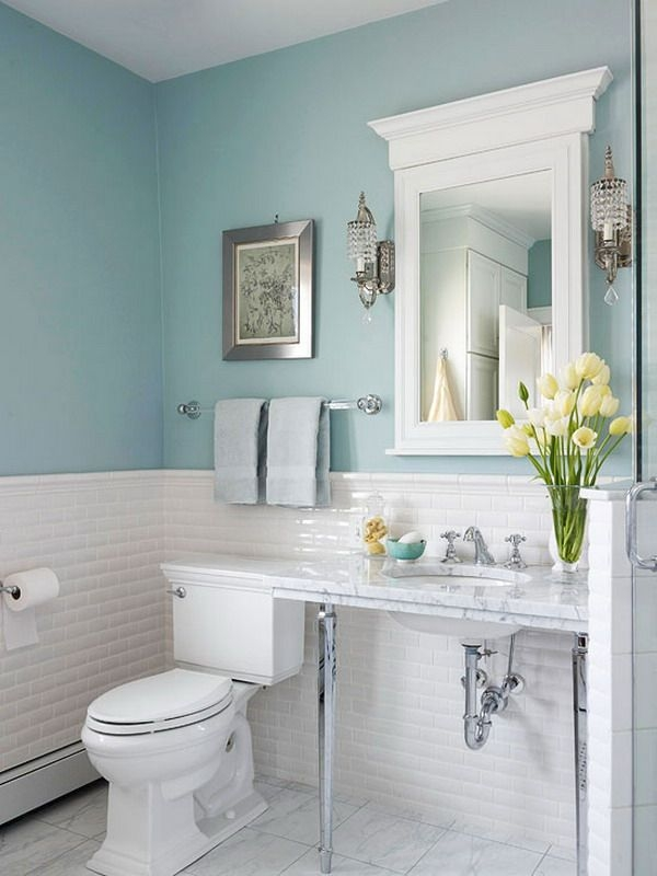 Best Ideas About Blue Bathroom Decor On Pinterest Powder Inspiring Blue Bathroom Design