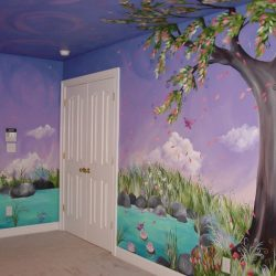 Jadens Dreaming Tree Custom Murals Hand Painted Furntiure Inspiring Fairy Bedroom Ideas