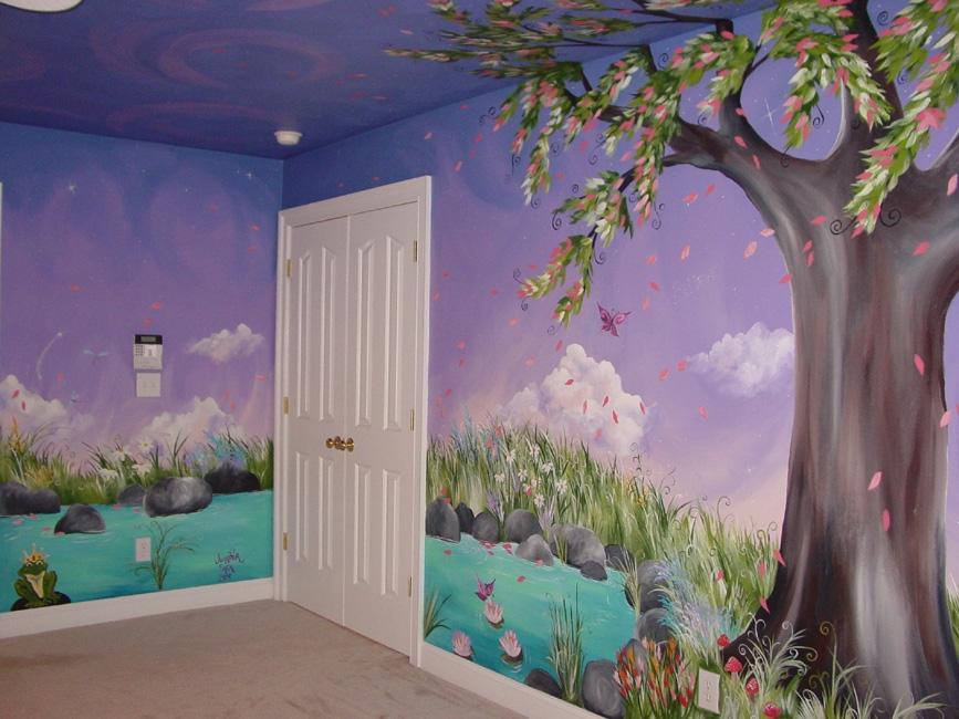 jadens dreaming tree custom murals hand painted furntiure inspiring fairy bedroom ideas
