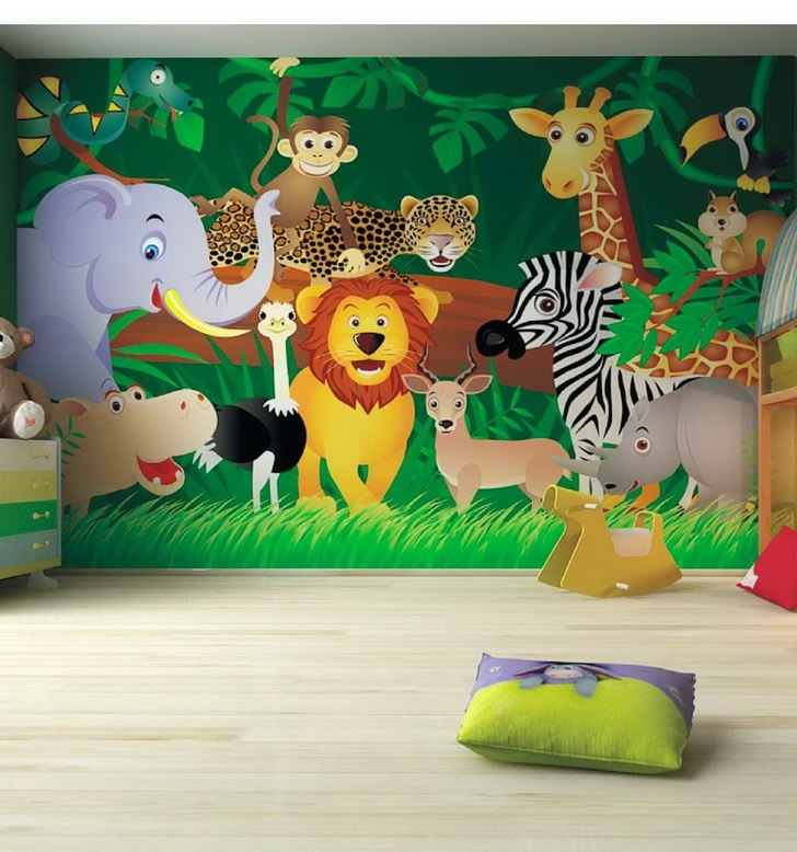 Kids Bedroom Ideas Zoo Wall Mural Kids Pinterest Wall Murals Best Childrens Bedroom Wall Painting Ideas