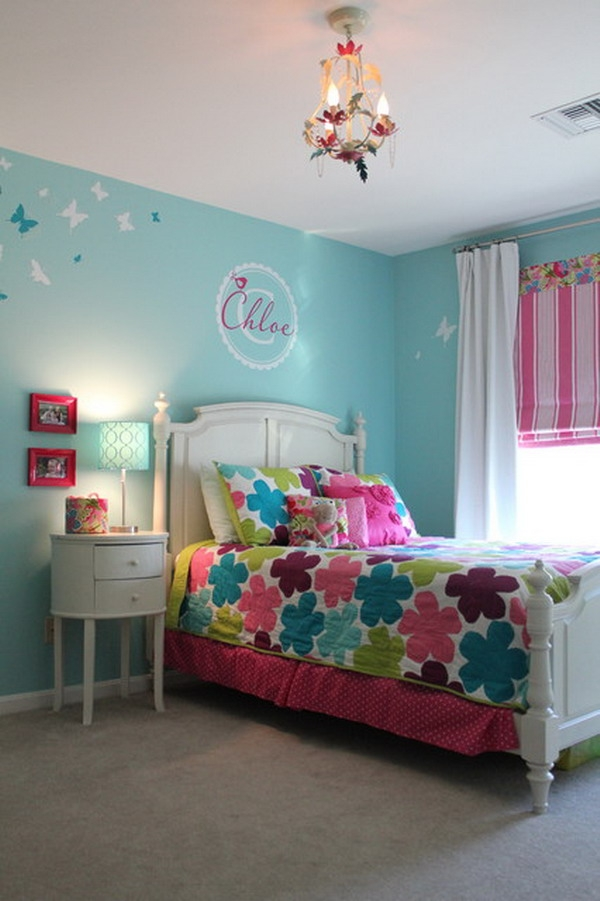 like the blind and the wall mural with name girl bedroom best bedroom colors for girls