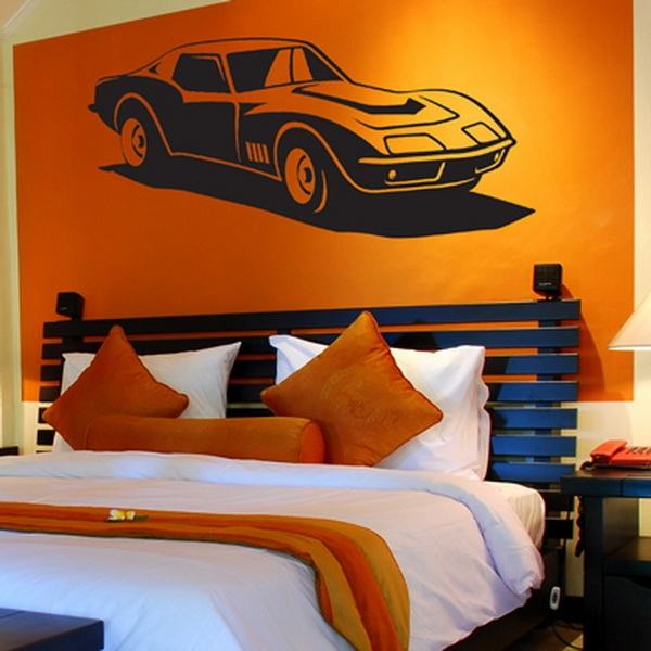 Old Car Room Ideas Best Home Decorating Boys Room With Wall Simple Bedroom Wall Designs For Boys