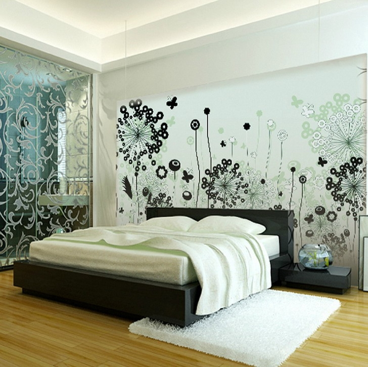 Painting Wall Murals For Creativity Wallpaper Mural Ideas Modern Bedroom Paint And Wallpaper Ideas