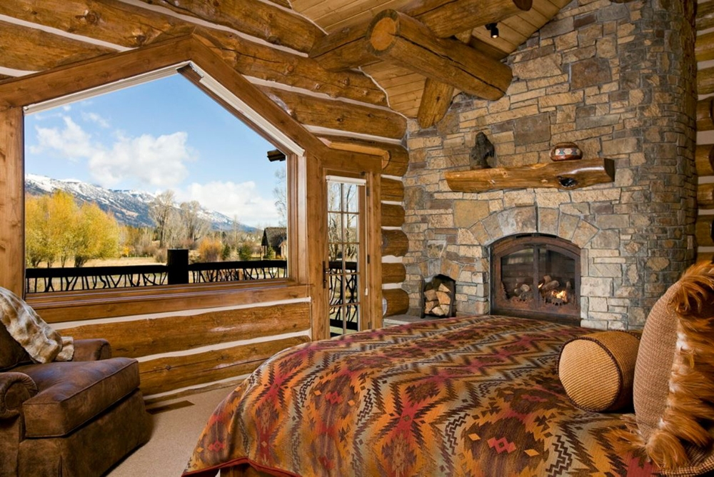 Rustic Bedrooms Design Ideas Canadian Log Homes Minimalist Cabin Bedroom Decorating Ideas
