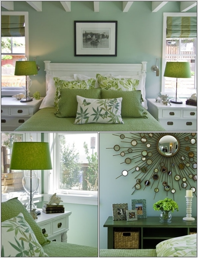 Serene Green Bedrooms Decorating Ideas Pinterest Guest Inexpensive Green Bedroom Design