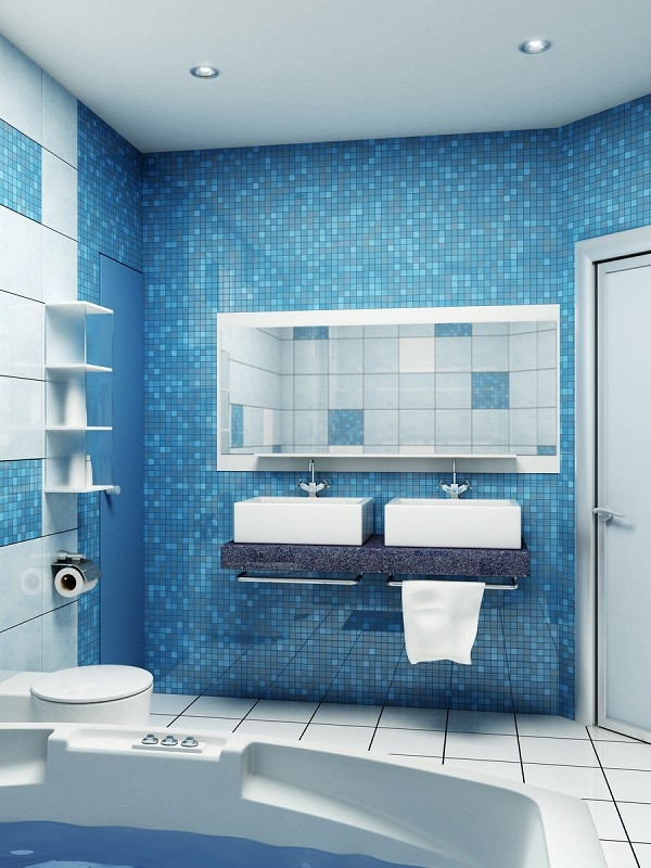 Small Bathroom Designs Ideas Hative Awesome Blue Bathroom Design