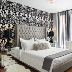 Stupendous Damask Wallpaper Design Ideas For Fine Bedroom Simple Damask Bedroom Ideas