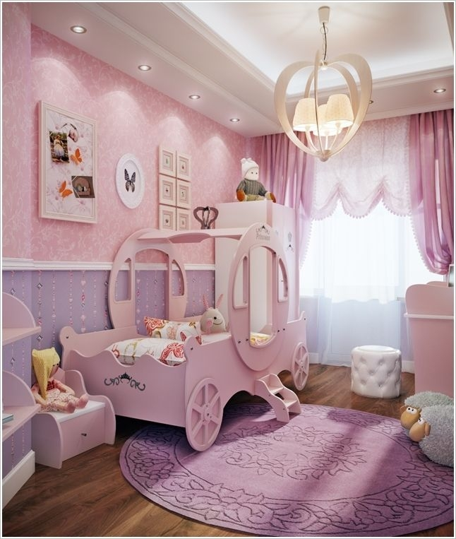 Wonderful Pink And Purple Bedroom Ideas Pink Paint Wall In Pink Simple Girls Bedroom Ideas Pink