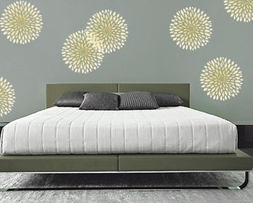You Can Repeat To Create An Allover Pattern Stencil Design And If Minimalist Bedroom Stencil Ideas