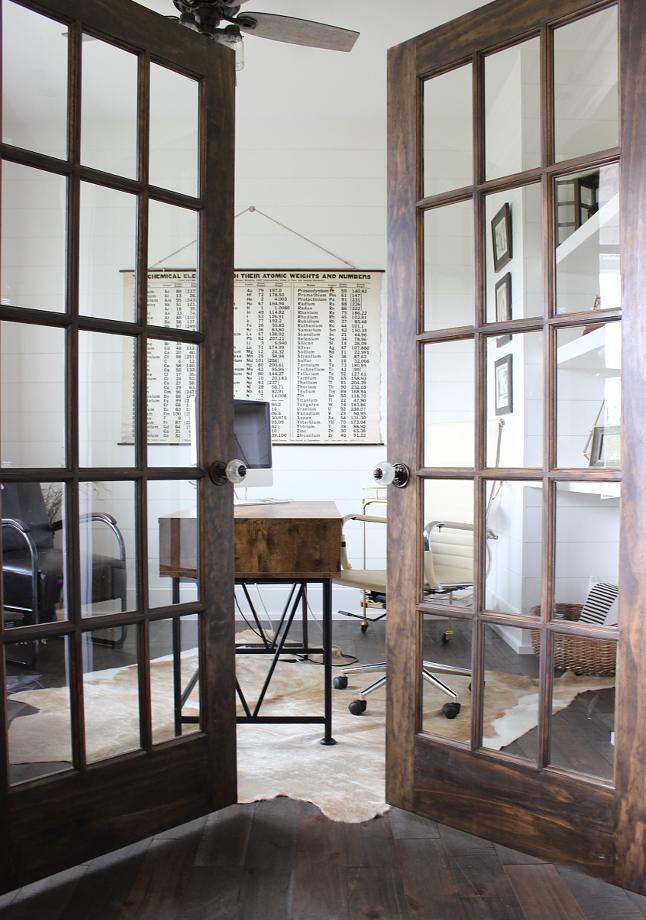 Awesome Home Offices Design With French Doors