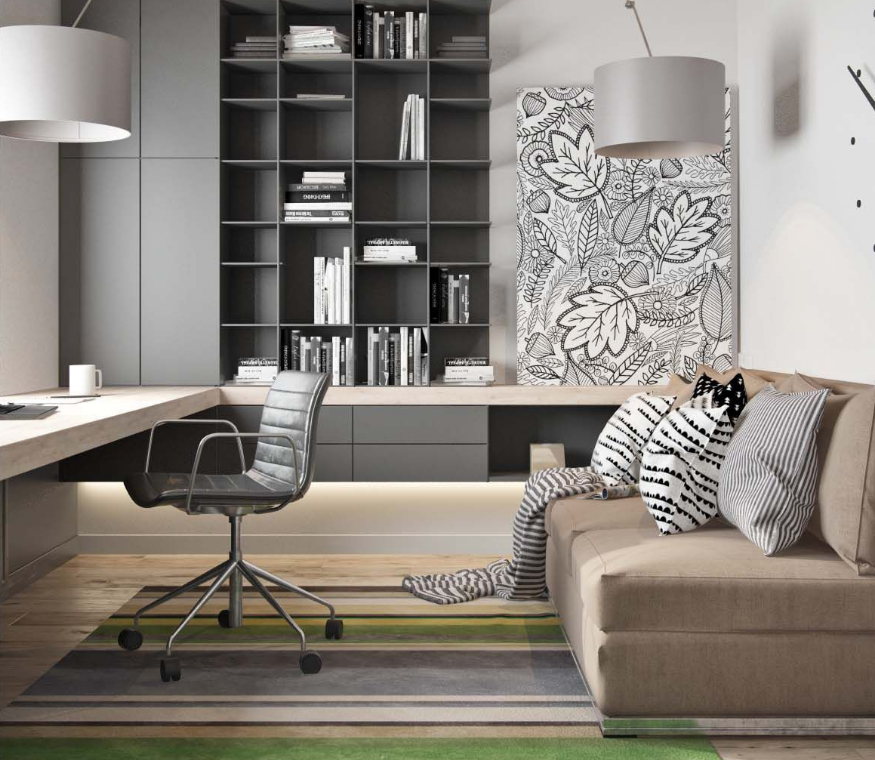 contemporary small office home office concept design