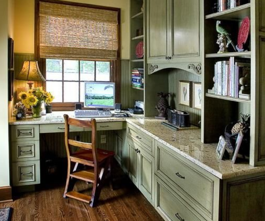 corner home office cabinet space saving furniture placement