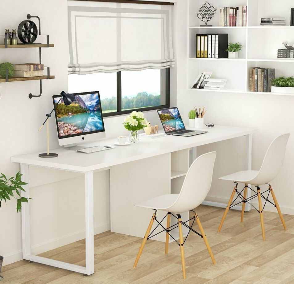 Dual Desk Home Office Furniture Study Table Writing Desk