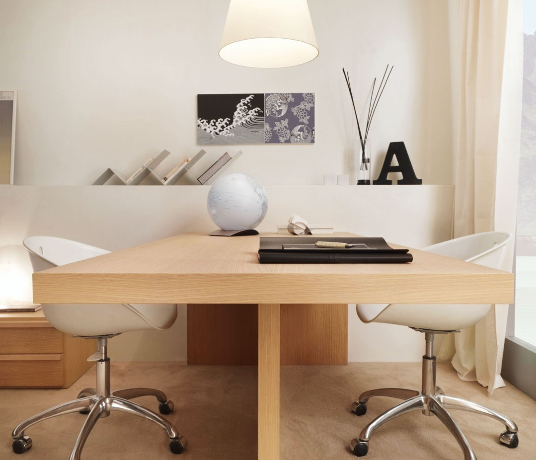 Wonderful Dual Person Home Office Desk