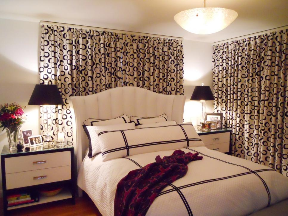 7 Beautiful Window Treatments For Bedrooms Hgtv Contemporary Bedroom Curtain Design Ideas