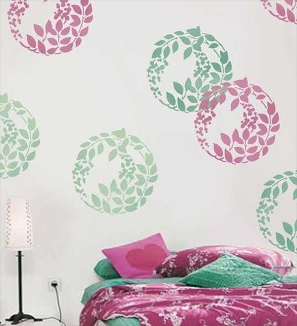 8 diy wall painting stencils design diy and crafts classic diy bedroom painting ideas