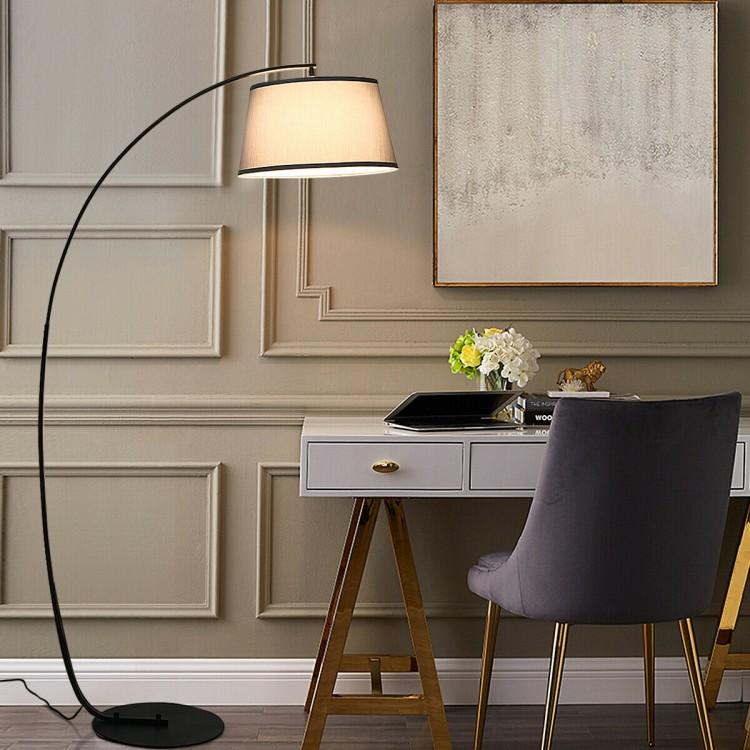Arc Floor Lamp Home Office Sturdy Base Modern