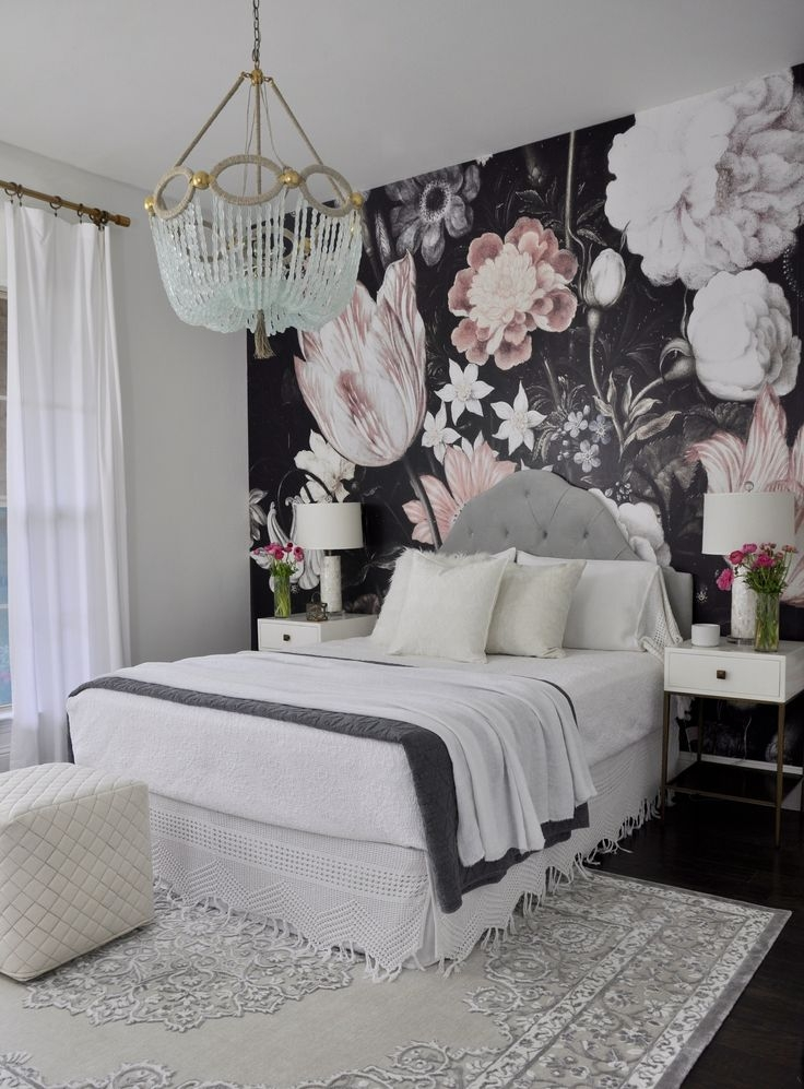 Best Ideas About Black Floral Wallpaper On Pinterest Wall Classic Floral Wallpaper Bedroom Ideas