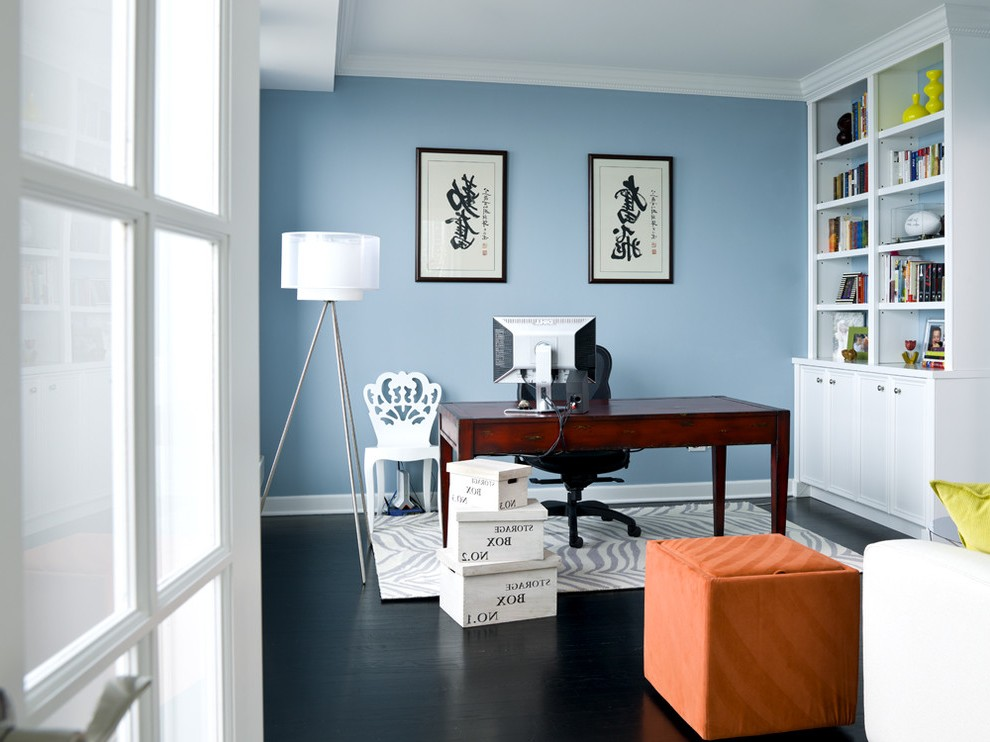 floor lamp for home office modern transitional with orange ottoman contemporary standard bookcases