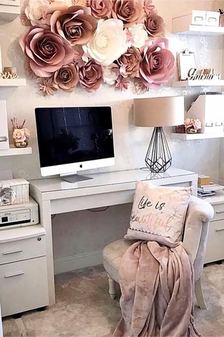 Home Office Decor Ideas For Her Pretty