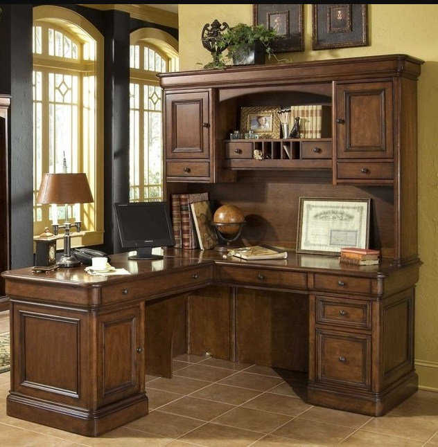 home office desk and hutch set ideal L shaped