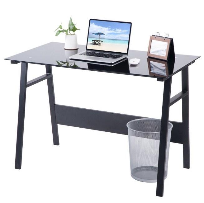 Home Office Glass Computer Desk Workstation Table Study Laptop Desktop Table