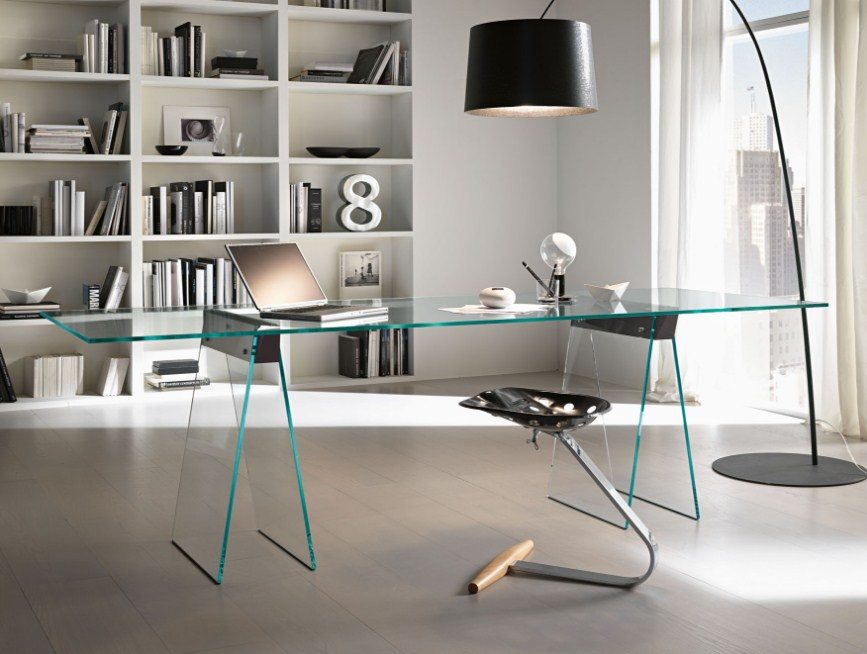 home office glass table nella vetrina tonelli kasteel modern