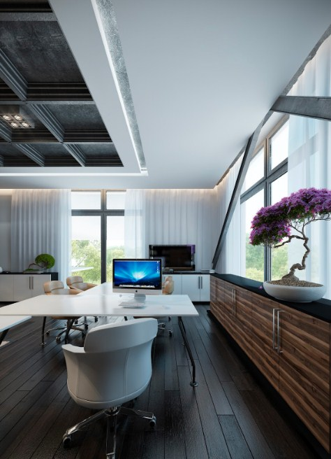 Home Office House Layouts White