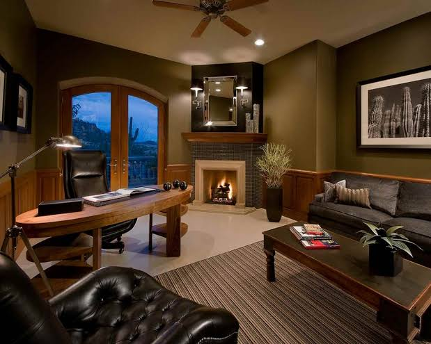Home Office Ideas Masculine Designing