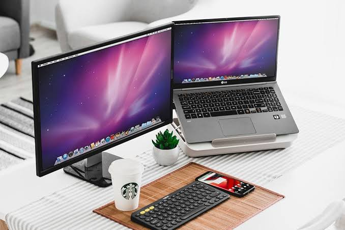 home office laptop computer mockup scene jpeg