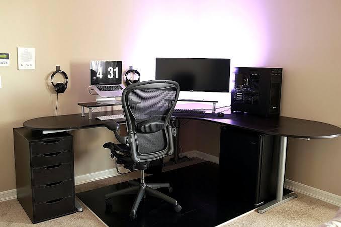 ikea galant home office ideas simple battlestation bekant desk in black jpeg