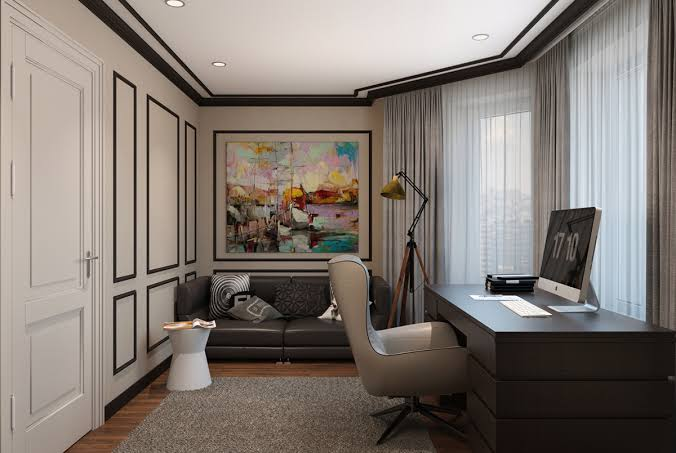 interior design home office design modern classic on behance jpeg