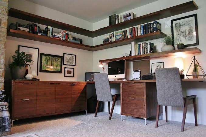 Mid Century Home Office Interior Design Ideas Inspirations Essential