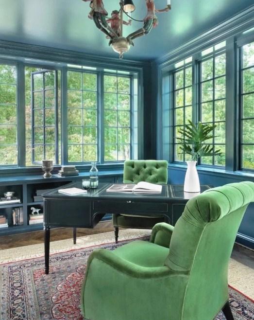 modern green home office
