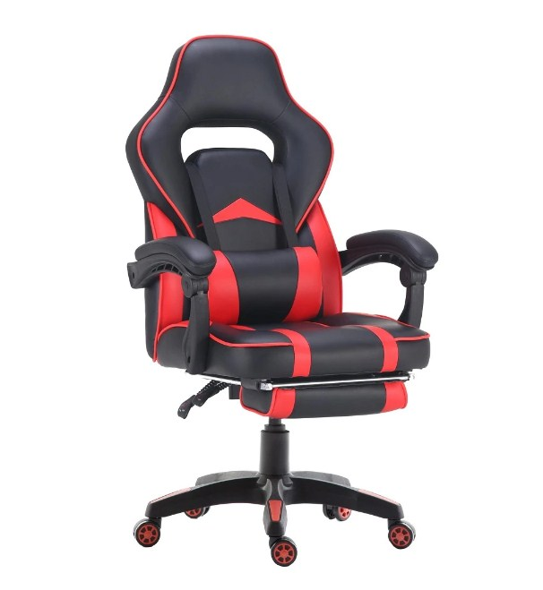 viscologic supra ergonomic sports style home office gaming chair with footrest