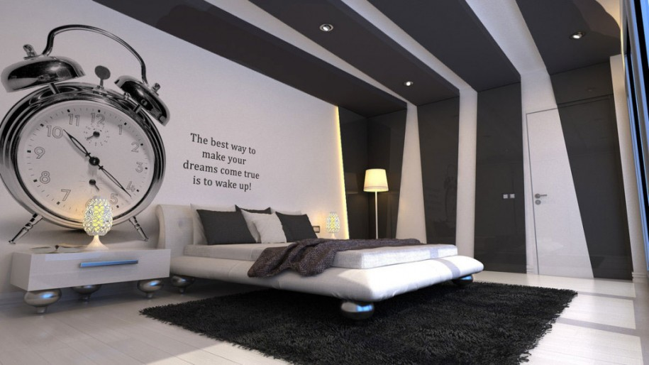 Bed Ideas Cool Bedroom Wall Cool Modern Wall Design Ideas