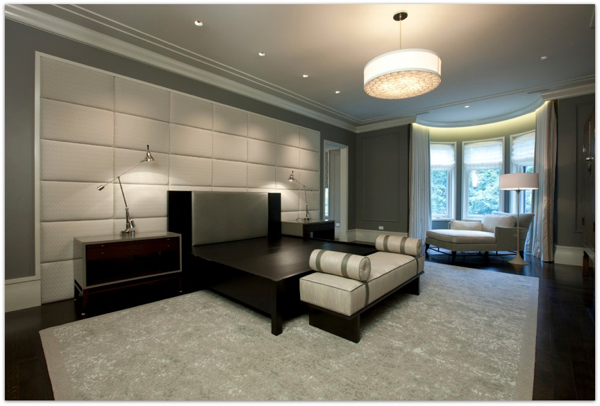 bedroom modern padded wall unique modern wall paneling designs