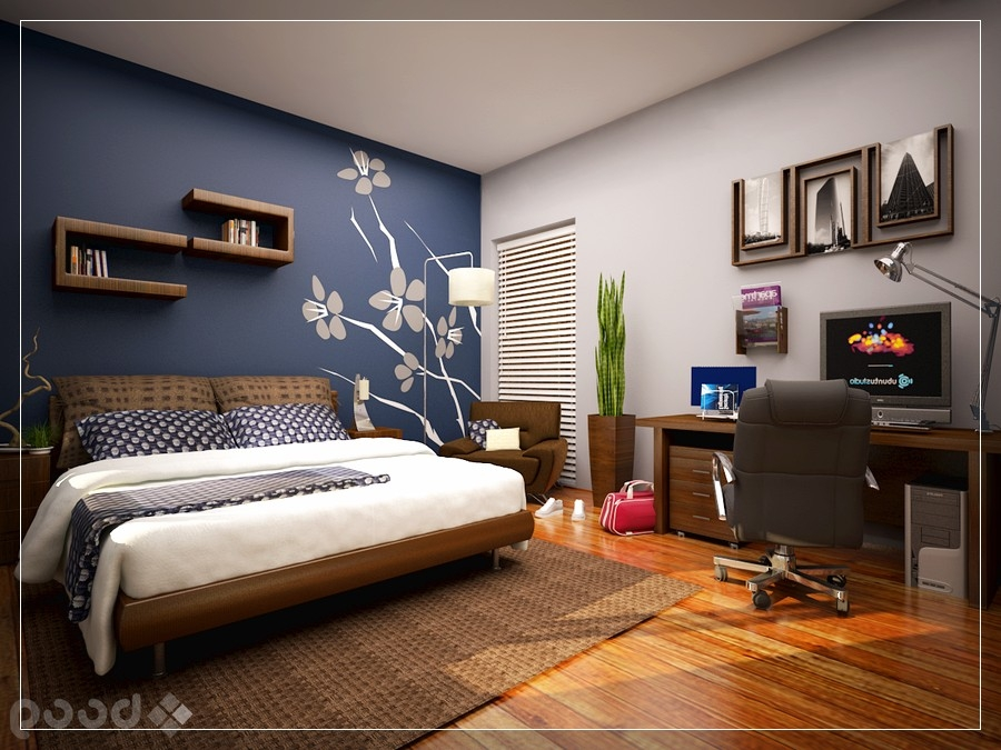 bedroom wall paint ideas cool bedroom with skylight blue accent unique cool ideas for bedroom walls