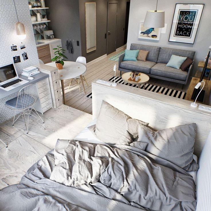 Best Studio Apartment Decorating Ideas On Pinterest Studio Awesome Apt Bedroom Ideas