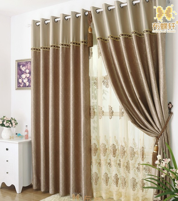 Coffe Color Simple Curtains For Beautiful Living Room Or Bedroom Luxury Bedroom Curtain Colors
