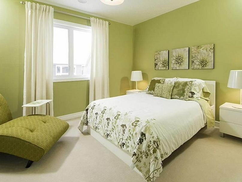 Comfortable Bedroom Paint Color Idea Cheap Green Color Bedroom