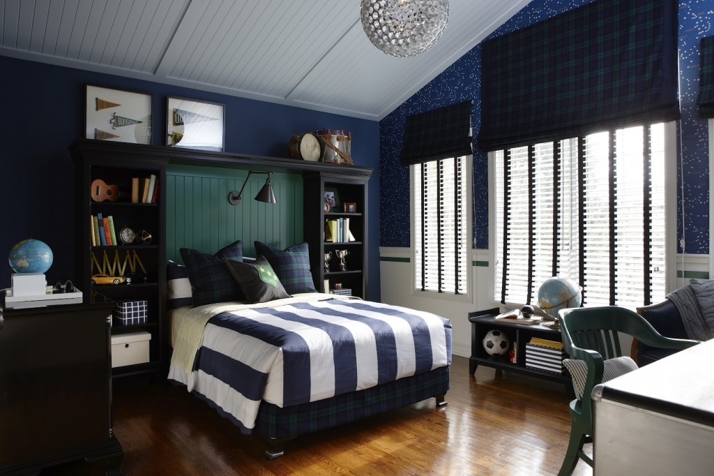 Cute And Colorful Little Boy Bedroom Ideas Blue And White Elegant Boys Bedroom Design