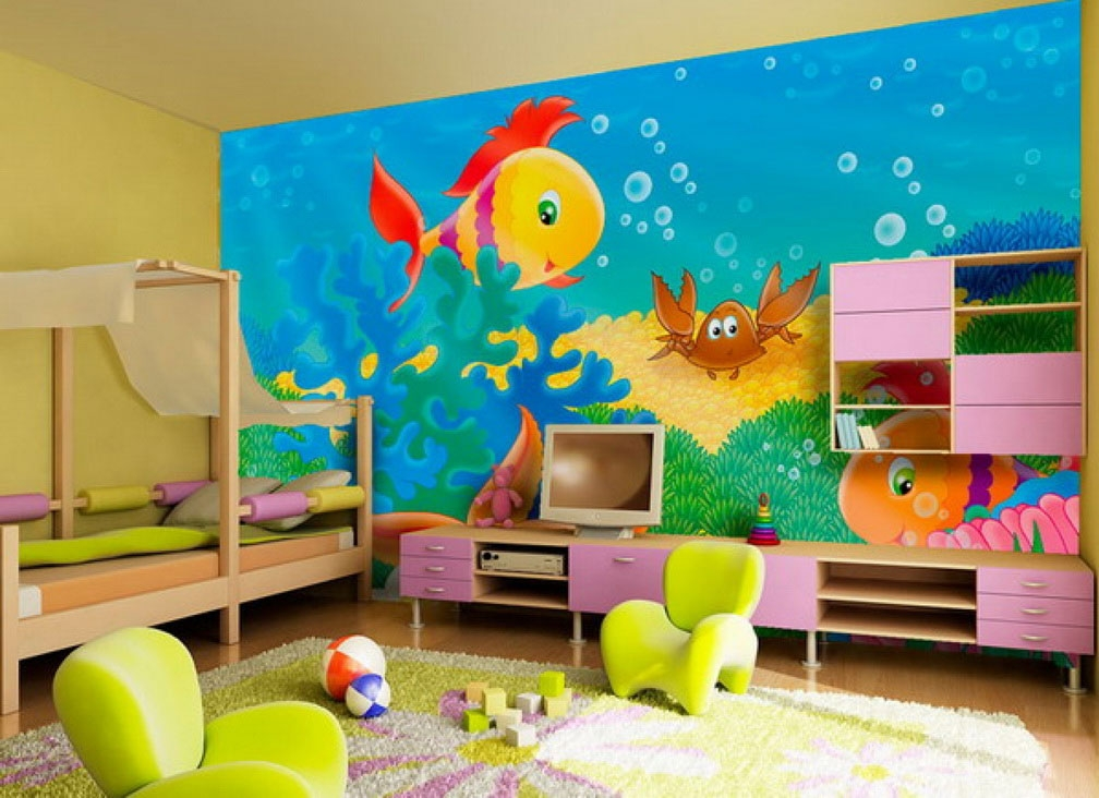 cute kids room wall painting with fish pictures ideas dream home impressive childrens bedroom wall painting ideas