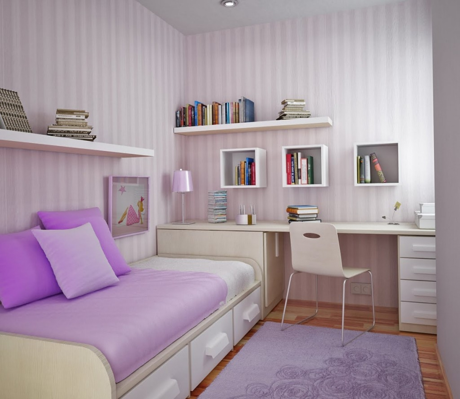 Decorating Ideas In Small Endearing Bedroom Ideas Small Spaces