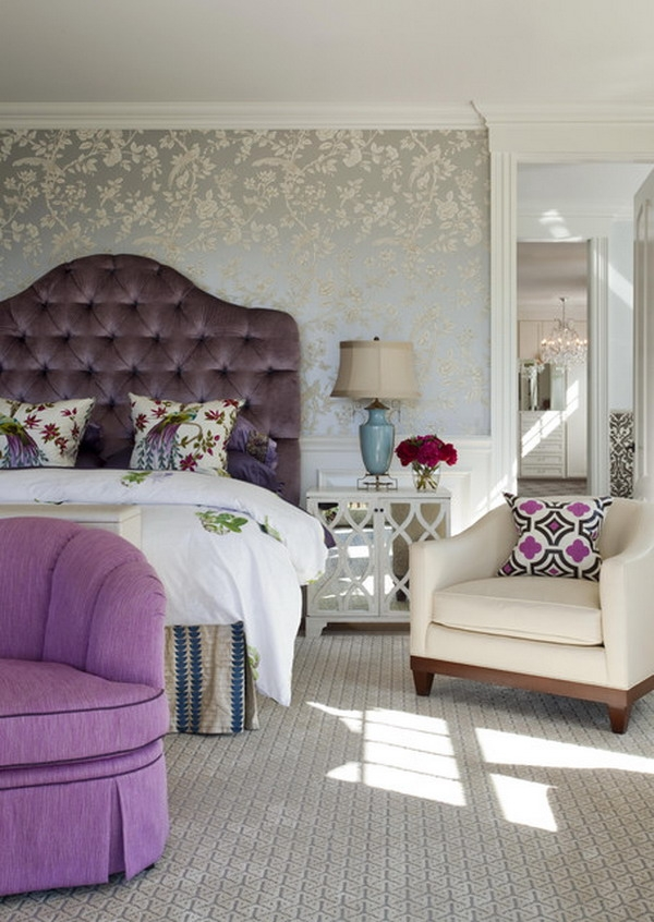 floral wallpaper ideas to the bedroom designs home interior minimalist floral wallpaper bedroom ideas 1