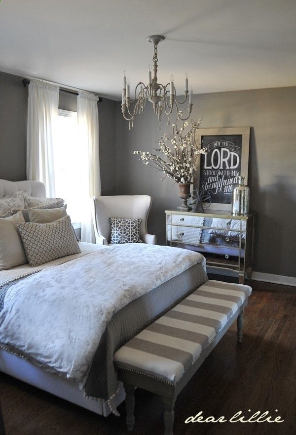 Grey White Master Bedroom Decor It Darling Super Cute Bench New Bedroom Ideas
