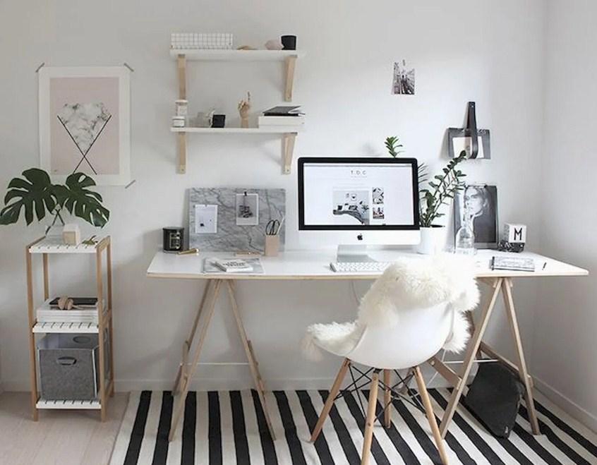 home office ideas minimalist white desk designs